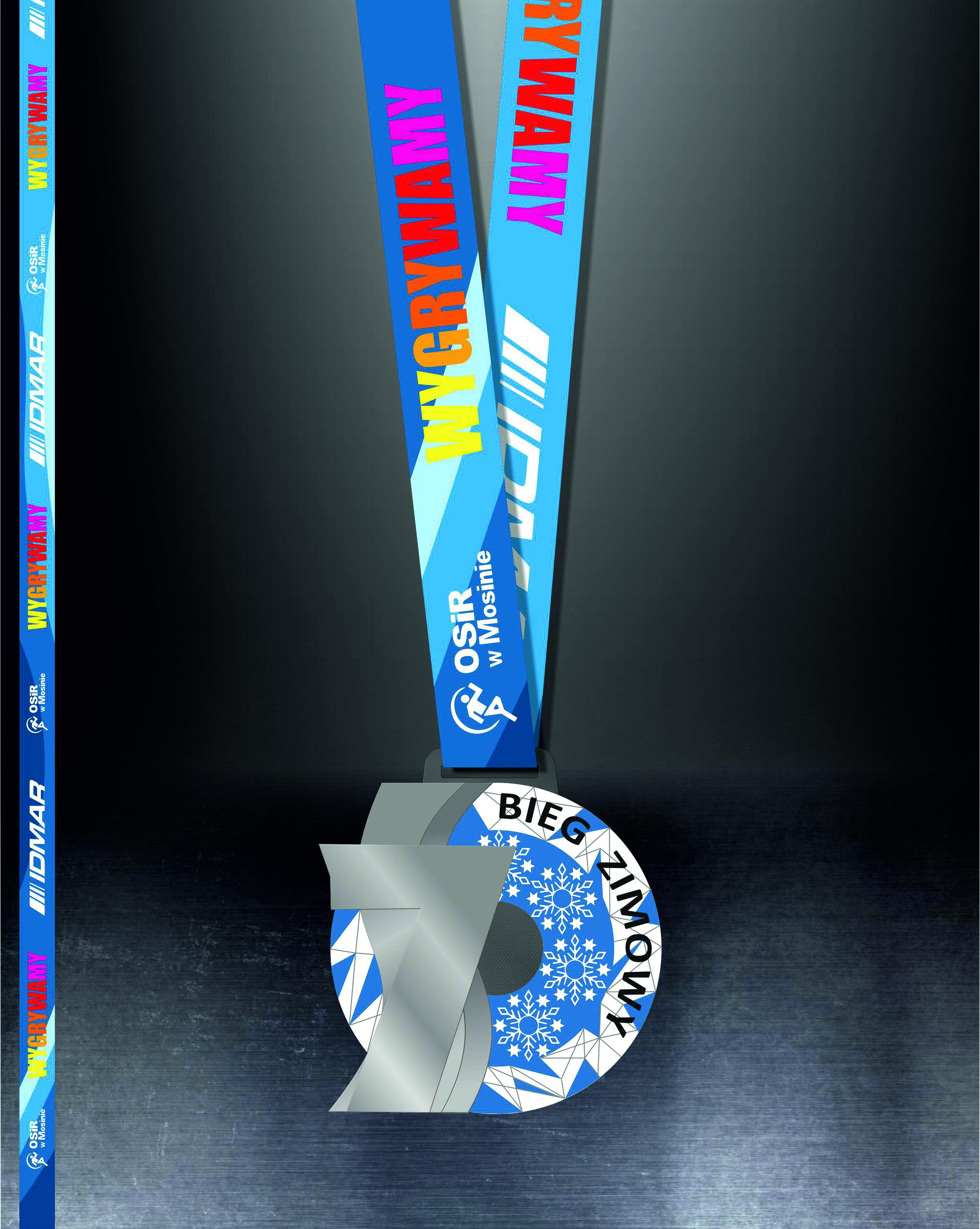 Wizualizacja medalu na 7 Bieg Zimowy po Wielkopolskim Parku Narodowym